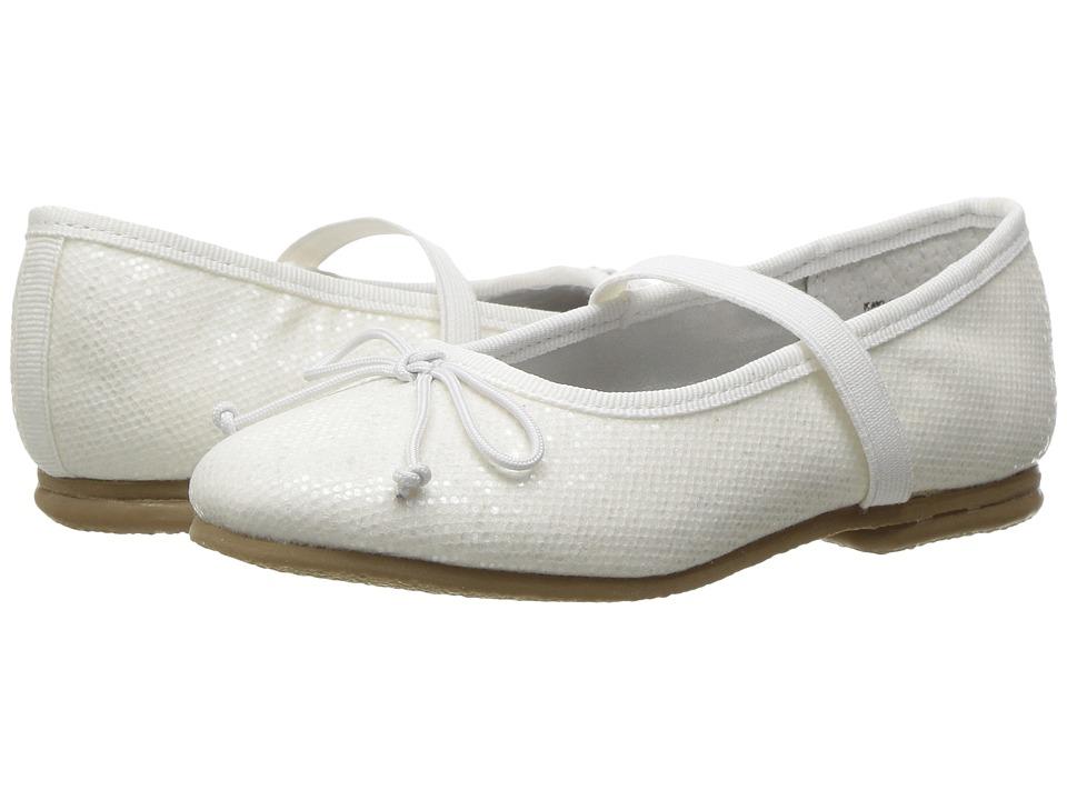 Jumping Jacks Kids - Balleto - Kayla (Toddler/Little Kid/Big Kid) (White Glitter) Girls Shoes