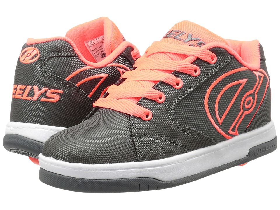 Heelys Propel 2.0 Ballistic (Little Kid/Big Kid/Adult) (Charcoal/Orange/Ballistic) Boys Shoes