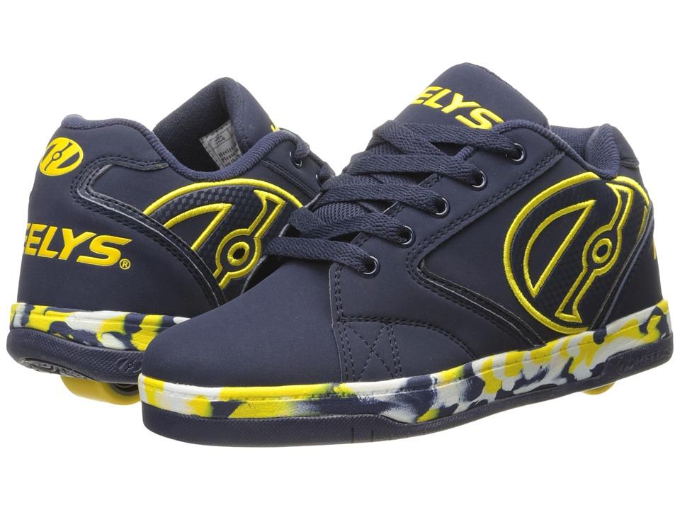 Heelys - Propel 2.0 (Little Kid/Big Kid/Adult) (Navy/Yellow/Confetti) Boys Shoes