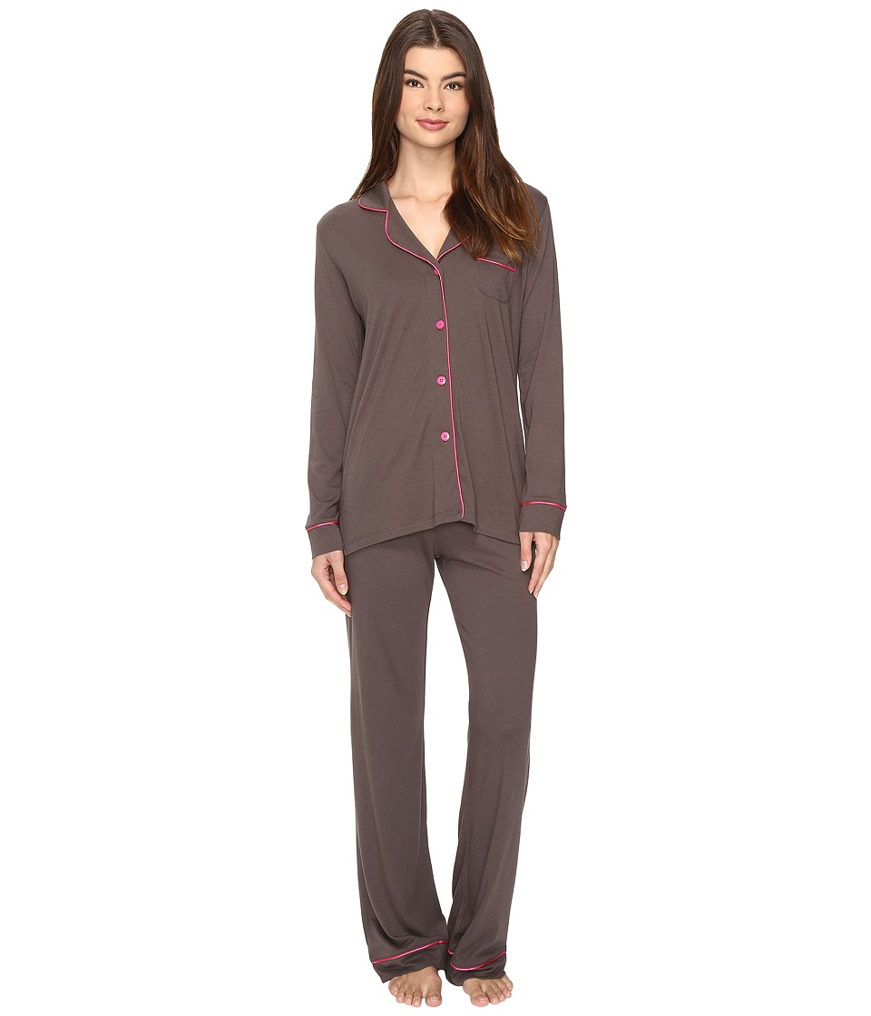 Cosabella - Bella PJ (Smoky Grey/Heather Pink) Women's Pajama Sets