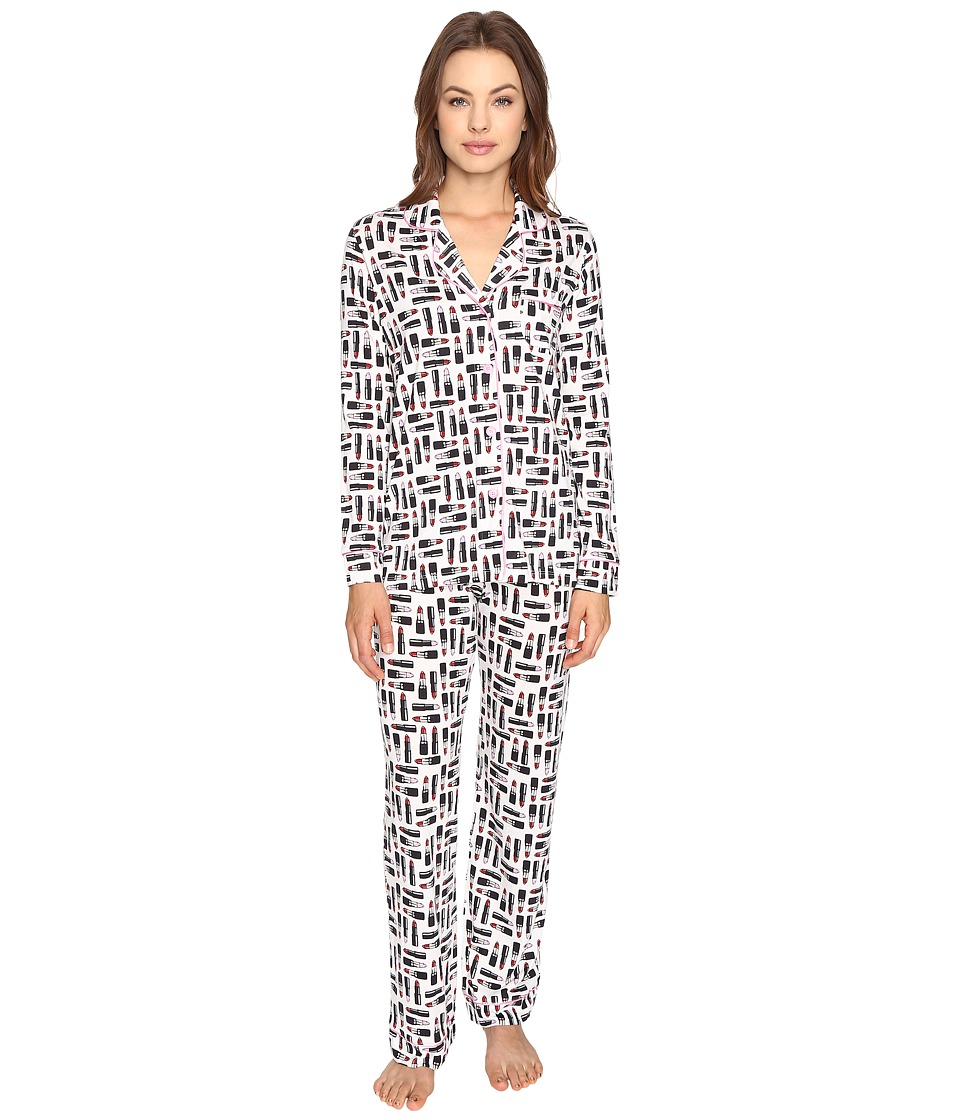 Cosabella - Bella Printed Long Sleeve Top Pants Set (Cherry Blossom/Cherry Blossom) Women's Pajama Sets