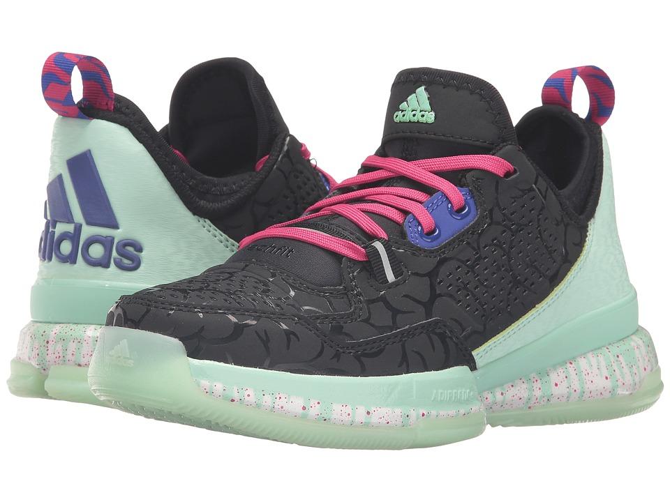 adidas Kids - D Lillard (Big Kid) (Black/Frozen Green/Night) Kids Shoes