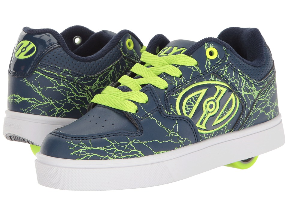 Heelys - Motion Plus (Little Kid/Big Kid/Adult) (Navy/Bright Yellow/Electricity) Boy's Shoes