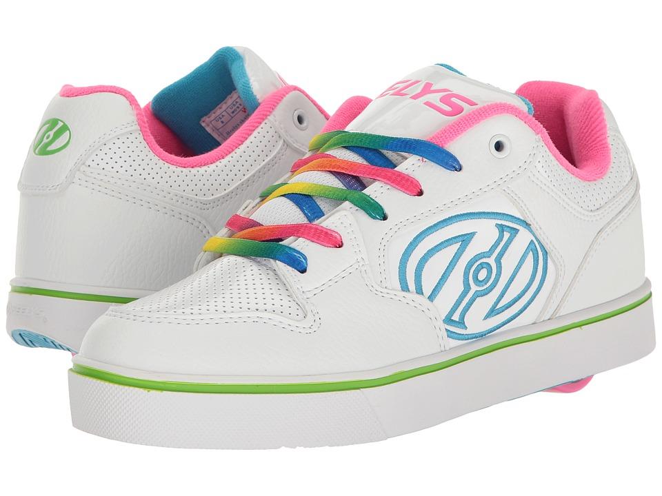 Heelys - Motion Plus (Little Kid/Big Kid/Adult) (White/Rainbow) Girl's Shoes