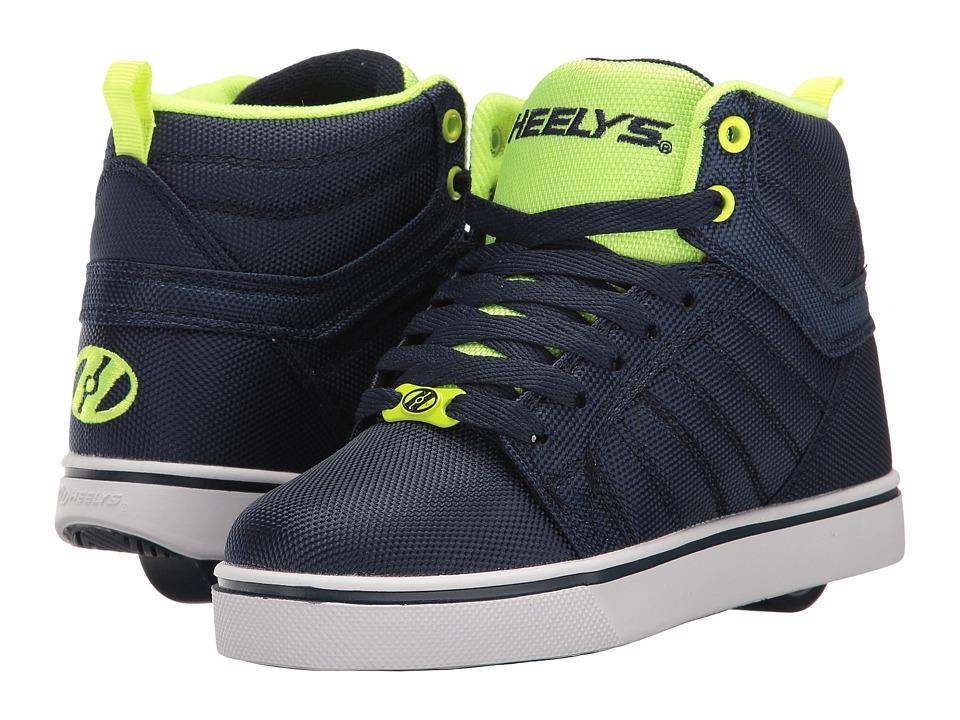Heelys - Uptown Ballistic (Little Kid/Big Kid/Adult) (Navy/Yellow Ballistic) Boys Shoes