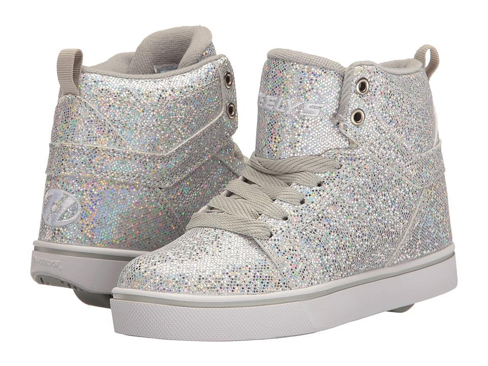 Heelys - Uptown (Little Kid/Big Kid/Adult) (Silver Disco Glitter) Girls Shoes