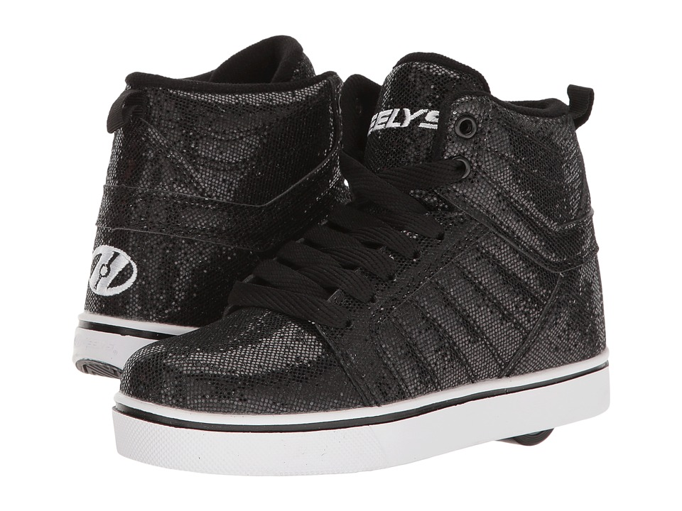 Heelys - Uptown (Little Kid/Big Kid/Adult) (Black Disco Glitter) Girls Shoes