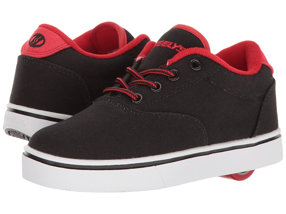 Heelys - Launch (Little Kid/Big Kid/Adult) (Black/Black/Red) Boys Shoes