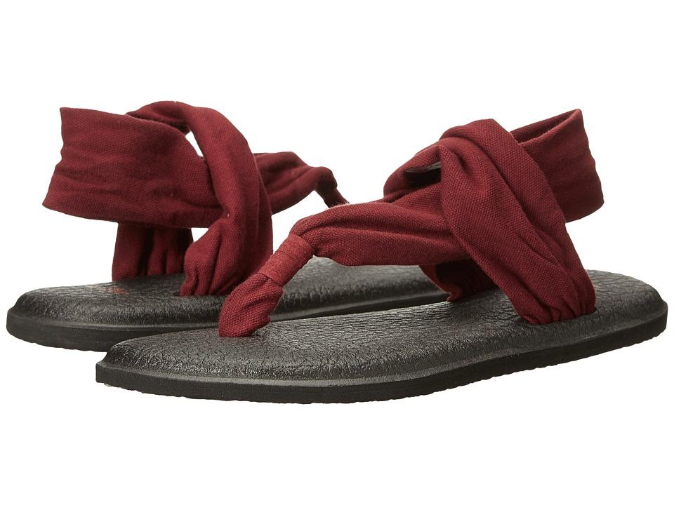 Sanuk - Yoga Sling 2 (Burgundy) Women's Sandals