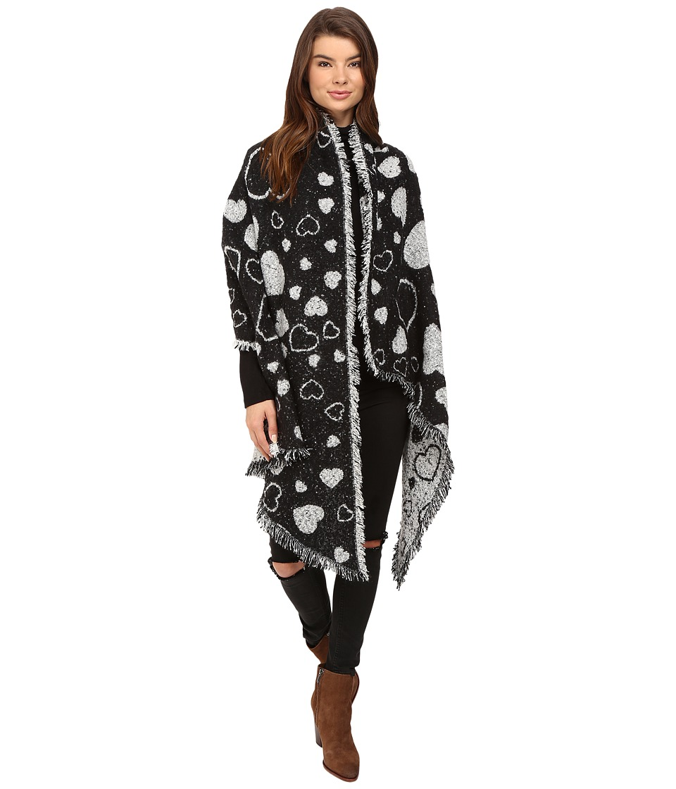 Betsey Johnson - Heart Couture Blanket Wrap (Ivory) Women's Clothing
