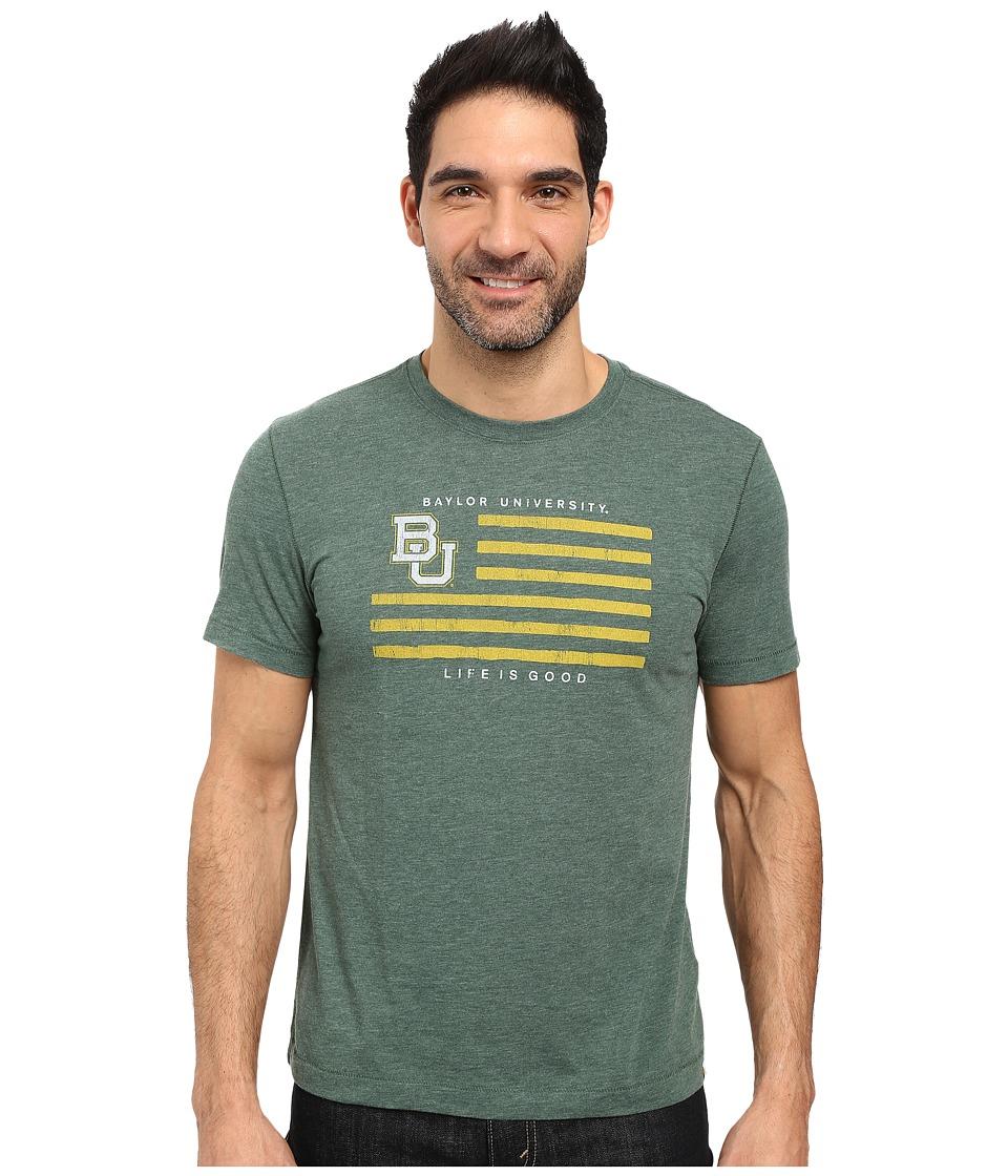 Life is good Baylor Flag Short Sleeve Tee (Dark Green) Men