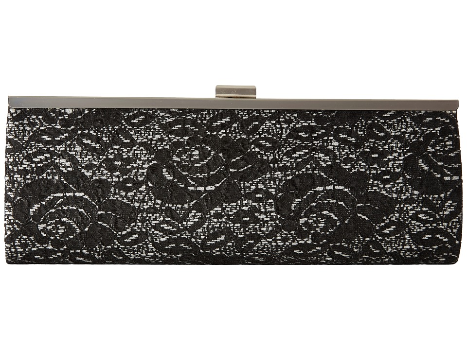 Nina - Lucina (Black/Silver Lace) Clutch Handbags
