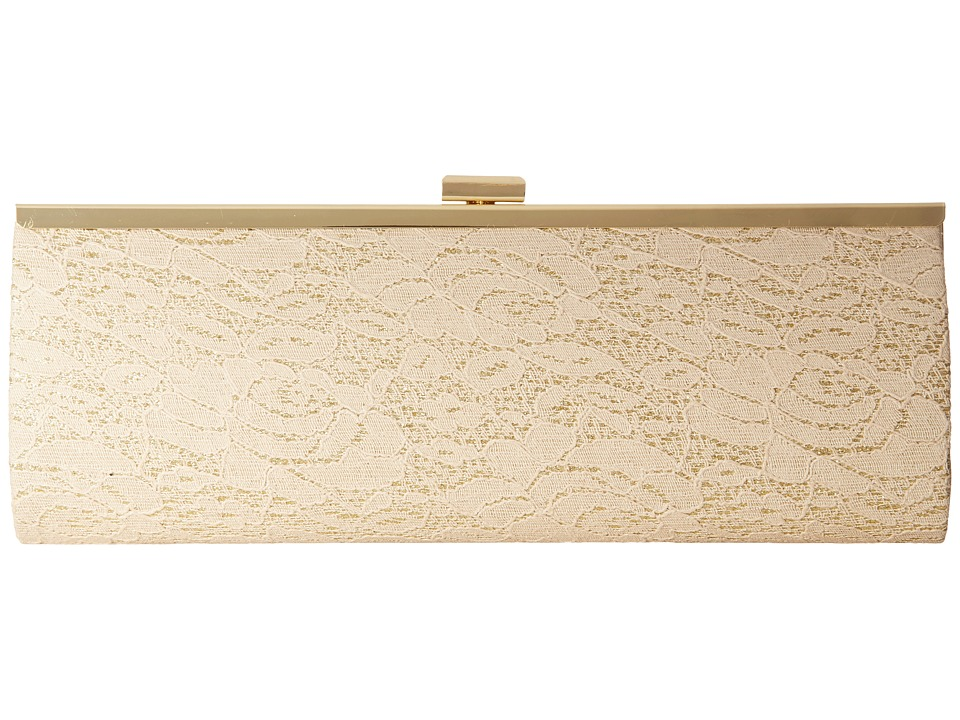 Nina - Lucina (Nude/Gold Lace) Clutch Handbags