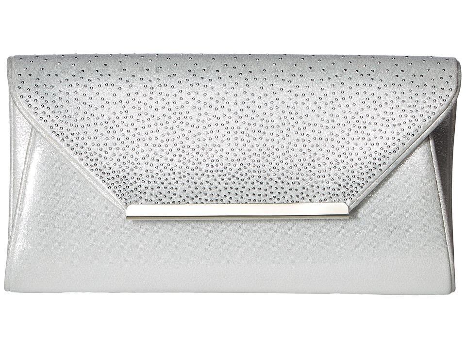 Nina - Monty (Silver Reflective Suede/Silver Studs) Clutch Handbags