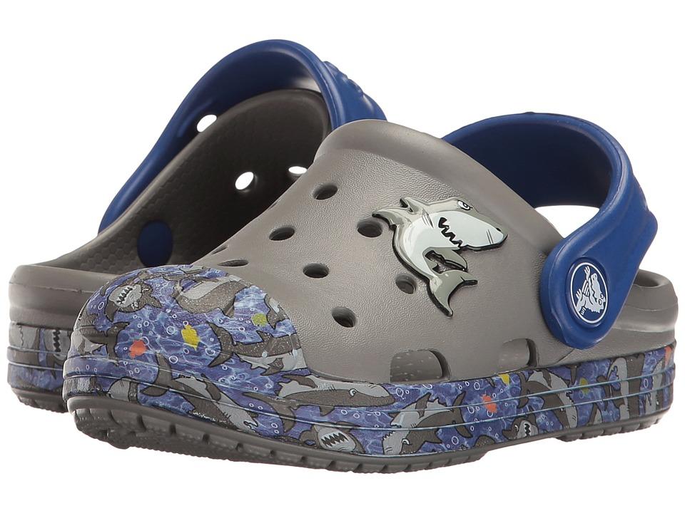 Crocs Kids - Bump it Graphic Clog (Toddler/Little Kid) (Smoke/Black) Kids Shoes