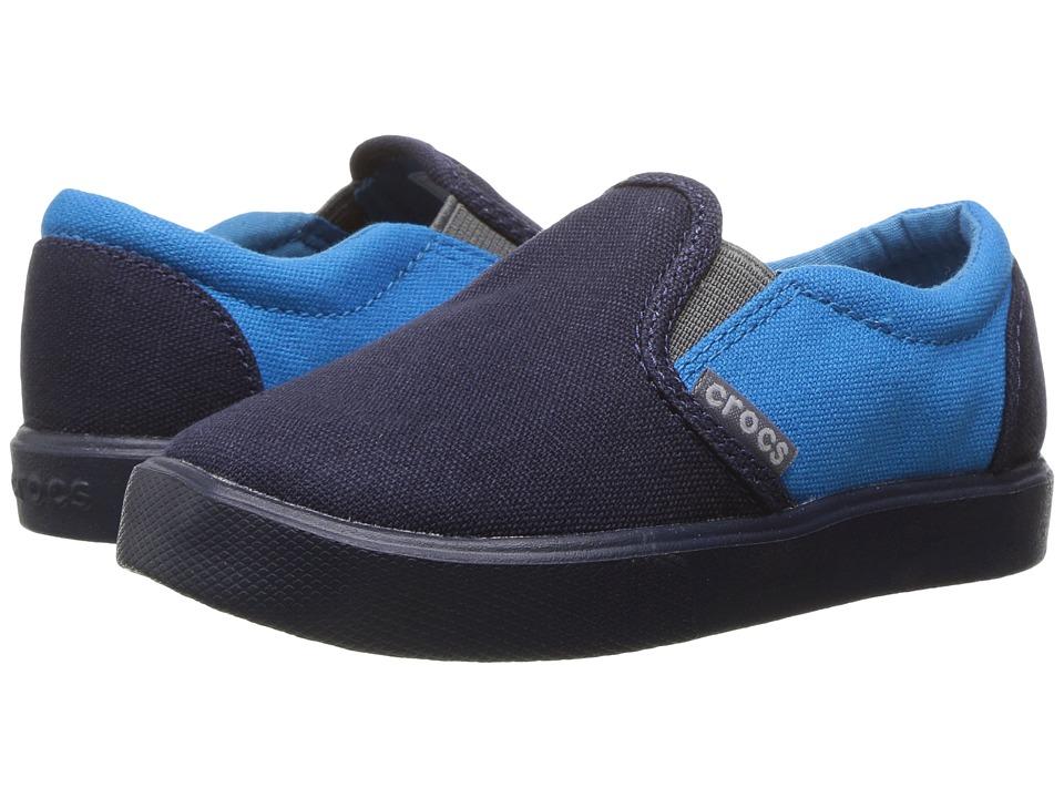 Crocs Kids - CitiLane Slip-On Sneaker (Toddler/Little Kid) (Navy/Ocean) Kids Shoes