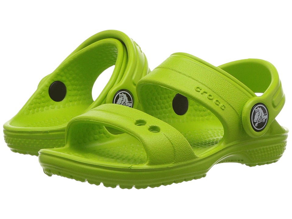 Crocs Kids - Classic Sandal (Toddler/Little Kid) (Volt Green) Kids Shoes