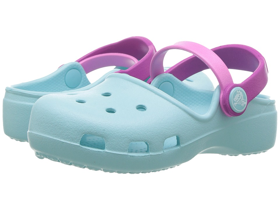 Crocs Kids - Karin Clog (Toddler/Little Kid) (Ice Blue) Girls Shoes
