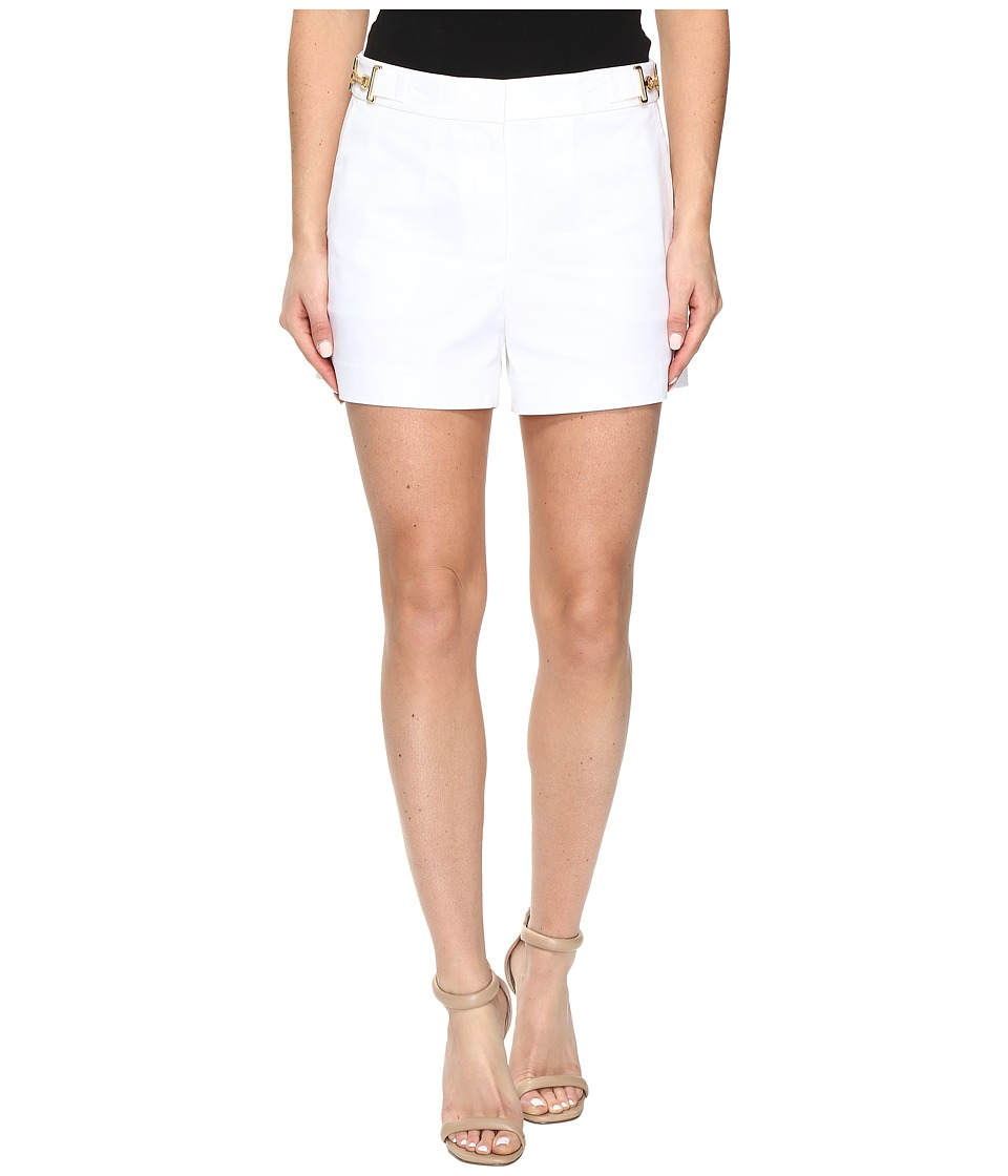 MICHAEL Michael Kors - High Waist Stitch Shorts (White) Women's Shorts