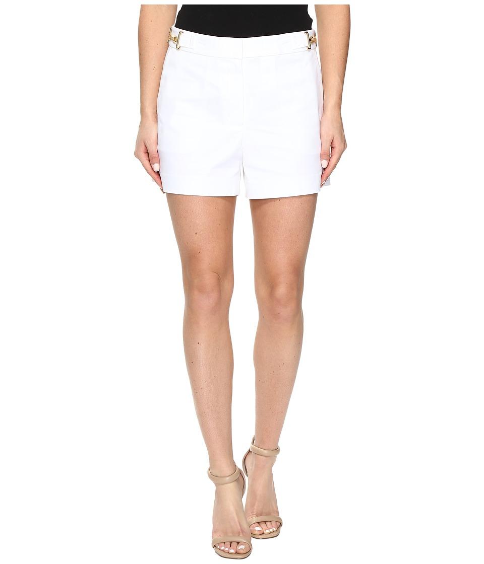 MICHAEL Michael Kors - High Waist Stitch Shorts (White) Women's Shorts