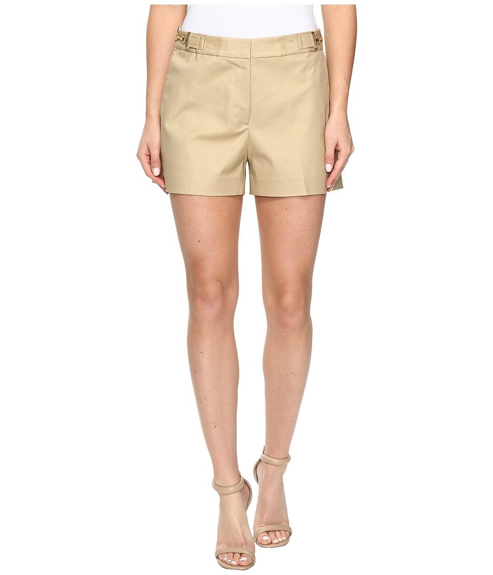 MICHAEL Michael Kors - High Waist Stitch Shorts (Khaki) Women's Shorts