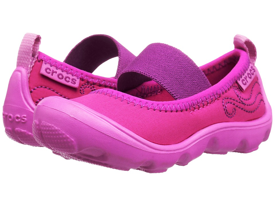 Crocs Kids - Duet Busy Day Mary Jane PS (Toddler/Little Kid) (Candy Pink/Party Pink) Girls Shoes