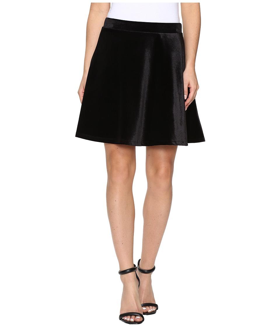 MICHAEL Michael Kors - Panne Velvet Circle Skirt (Black) Women's Skirt