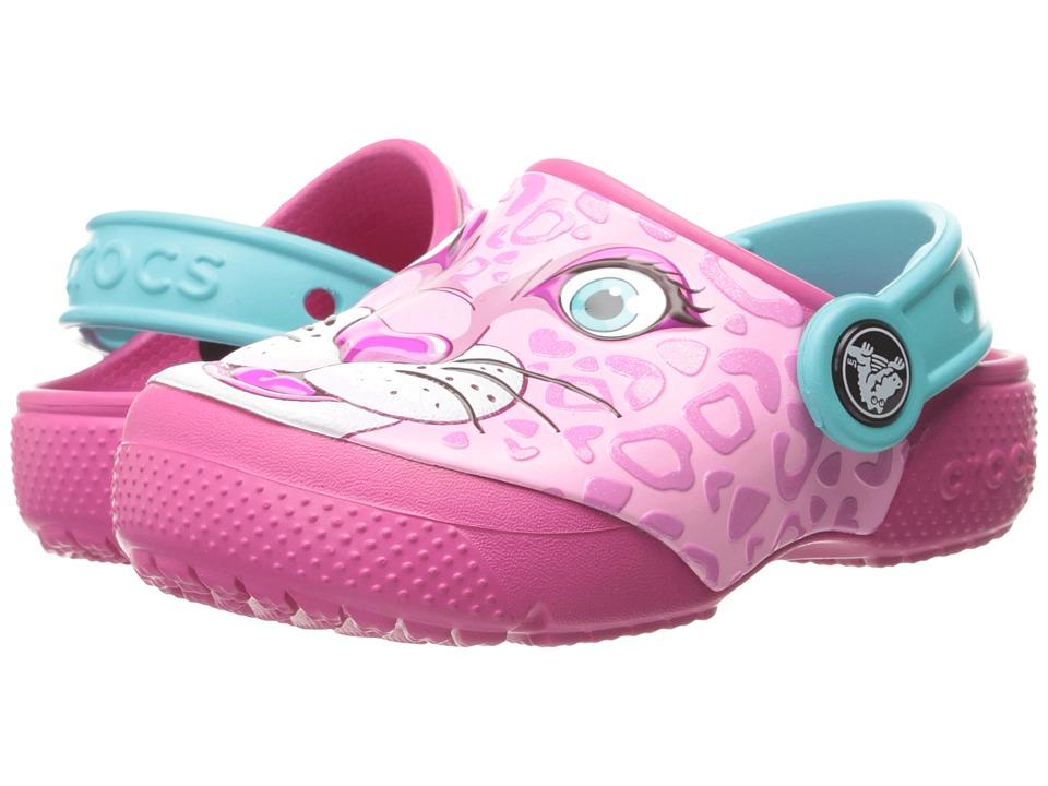 Crocs Kids - CrocsFunLab Clog (Toddler/Little Kid) (Leopard/Pink) Girls Shoes