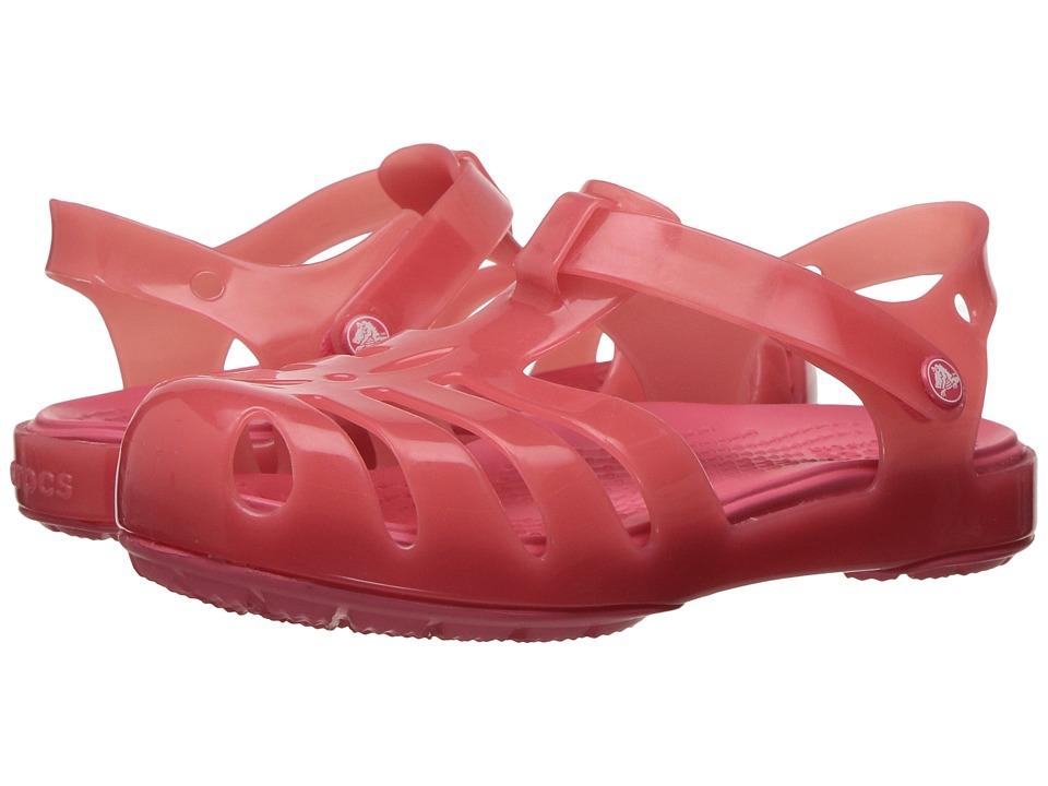 Crocs Kids - Isabella Sandal PS (Toddler/Little Kid) (Coral) Girls Shoes