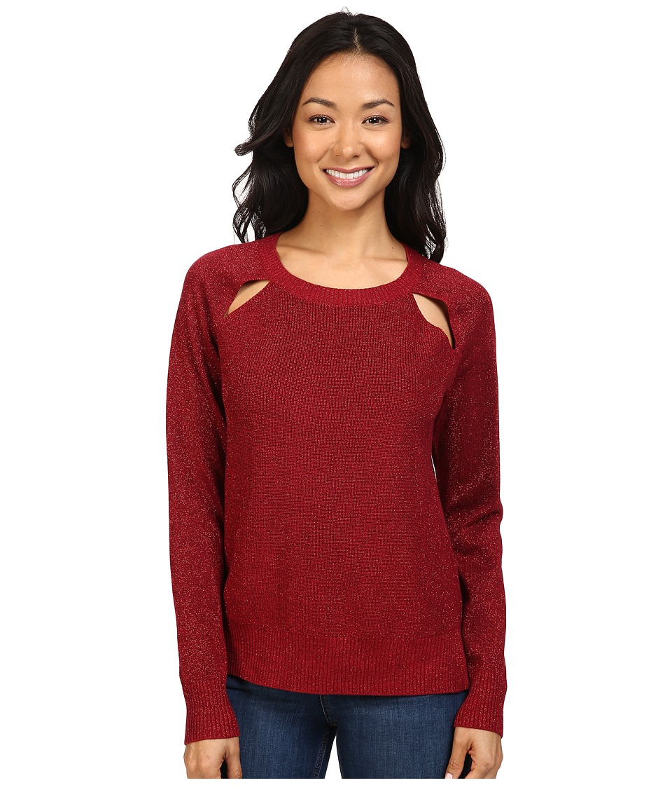 MICHAEL Michael Kors - Raglan Cut Out Long Sleeve Sweater (Cinnabar) Women's Sweater