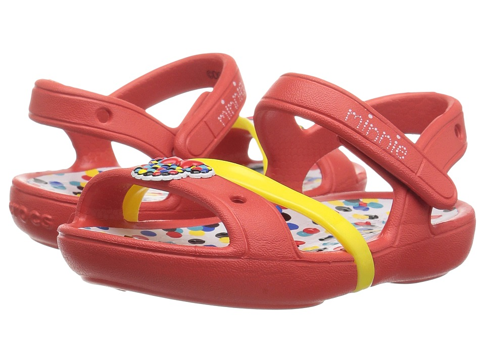 Crocs Kids - Lina Minnie Sandal (Toddler/Little Kid) (Dots) Girls Shoes