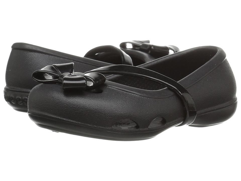 Crocs Kids - Lina Flat (Toddler/Little Kid) (Black) Girls Shoes
