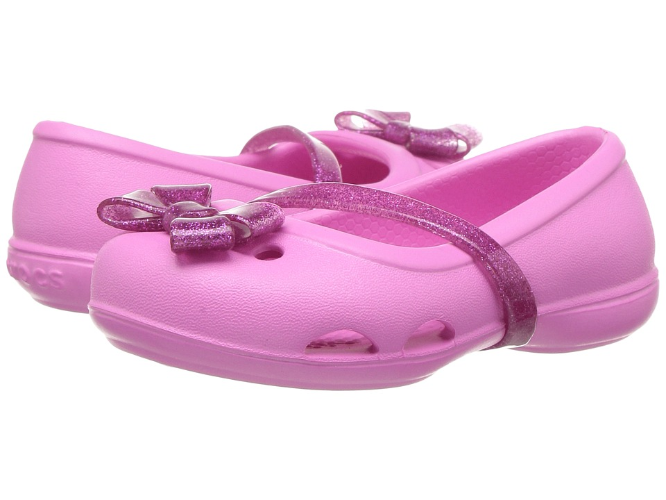 Crocs Kids - Lina Flat (Toddler/Little Kid) (Party Pink) Girls Shoes
