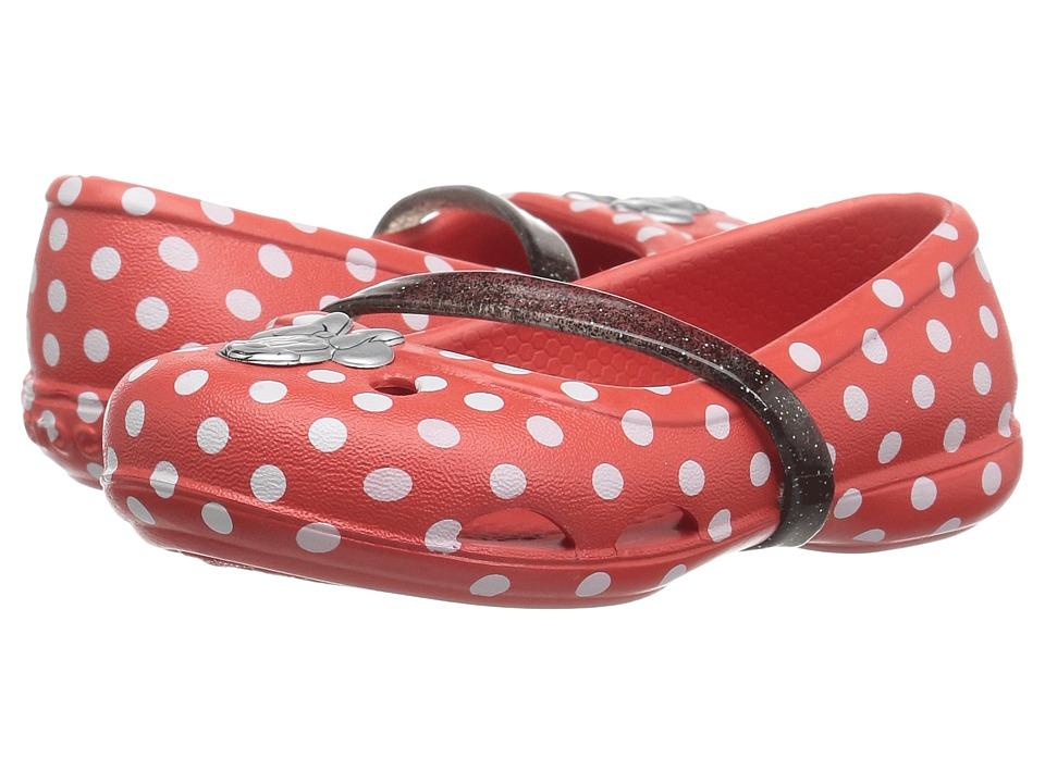 Crocs Kids Lina Minnie Flat (Toddler/Little Kid) (Dots) Girls Shoes