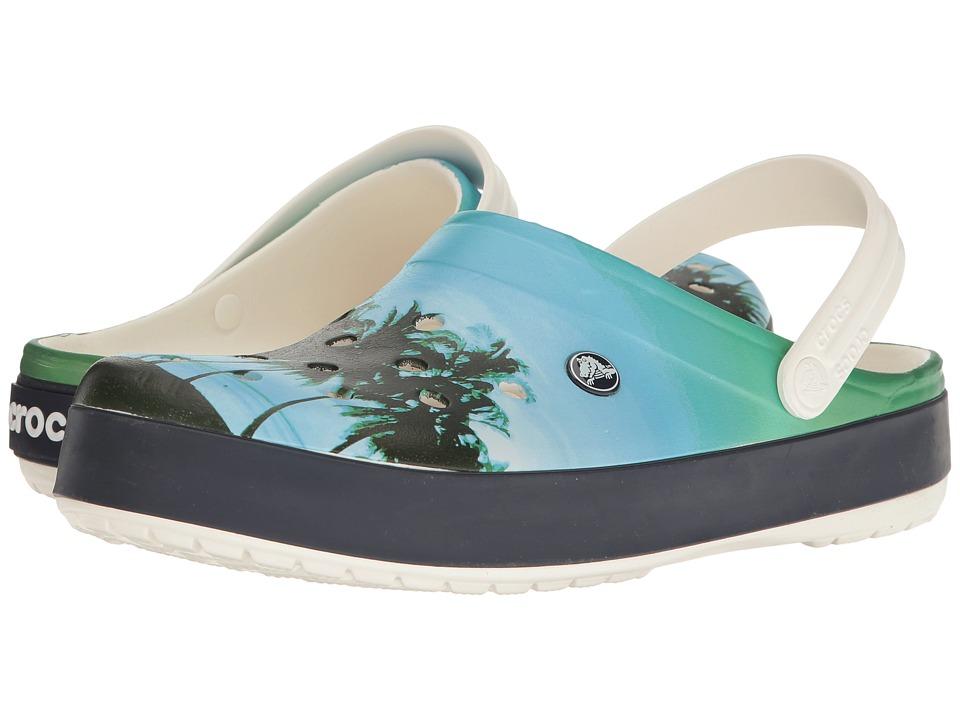 Crocs - Crocband Tropics Clog (White) Clog Shoes