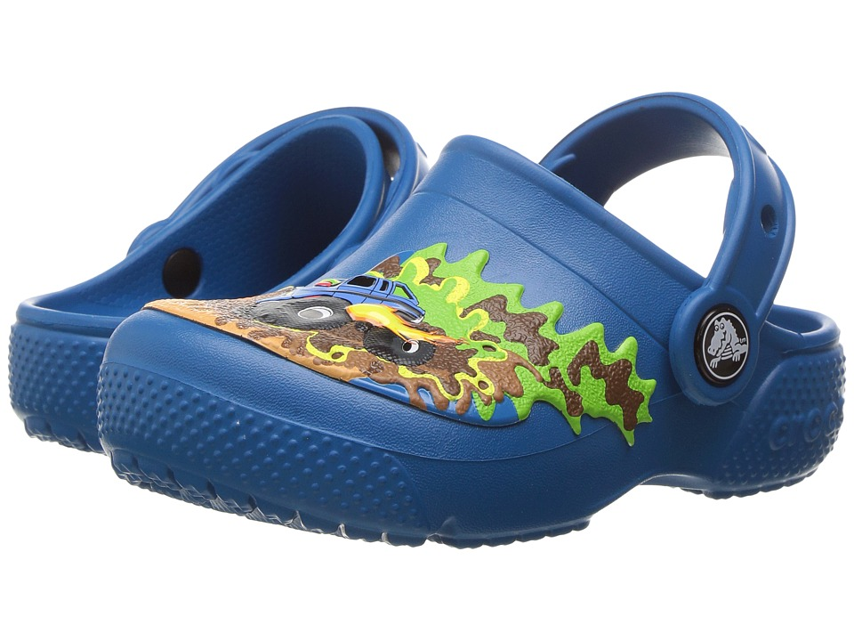 Crocs Kids - CrocsFunLab Clog (Toddler/Little Kid) (Monster Truck/Ultramarine) Boys Shoes