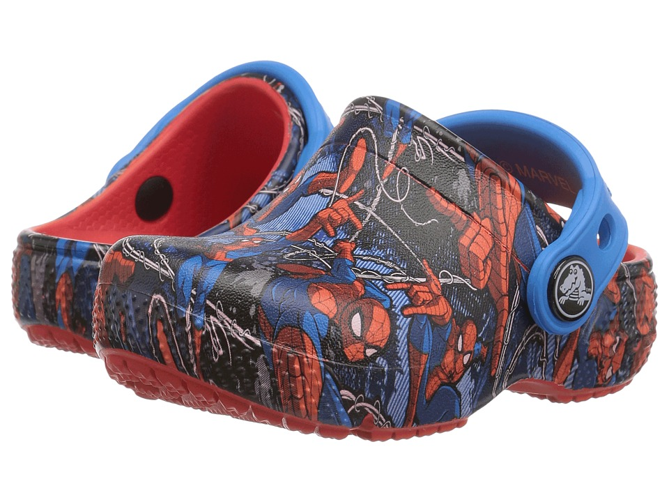 Crocs Kids - CrocsFunLab Spiderman (Toddler/Little Kid) (Flame) Boy's Shoes