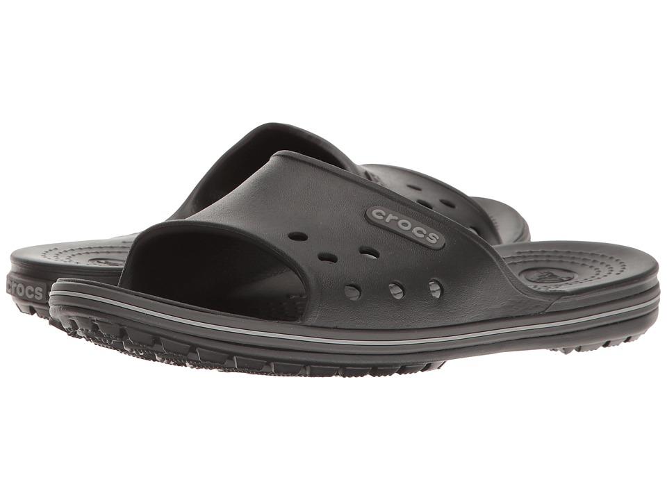 Crocs - Crocband II Slide (Black/Graphite) Slide Shoes