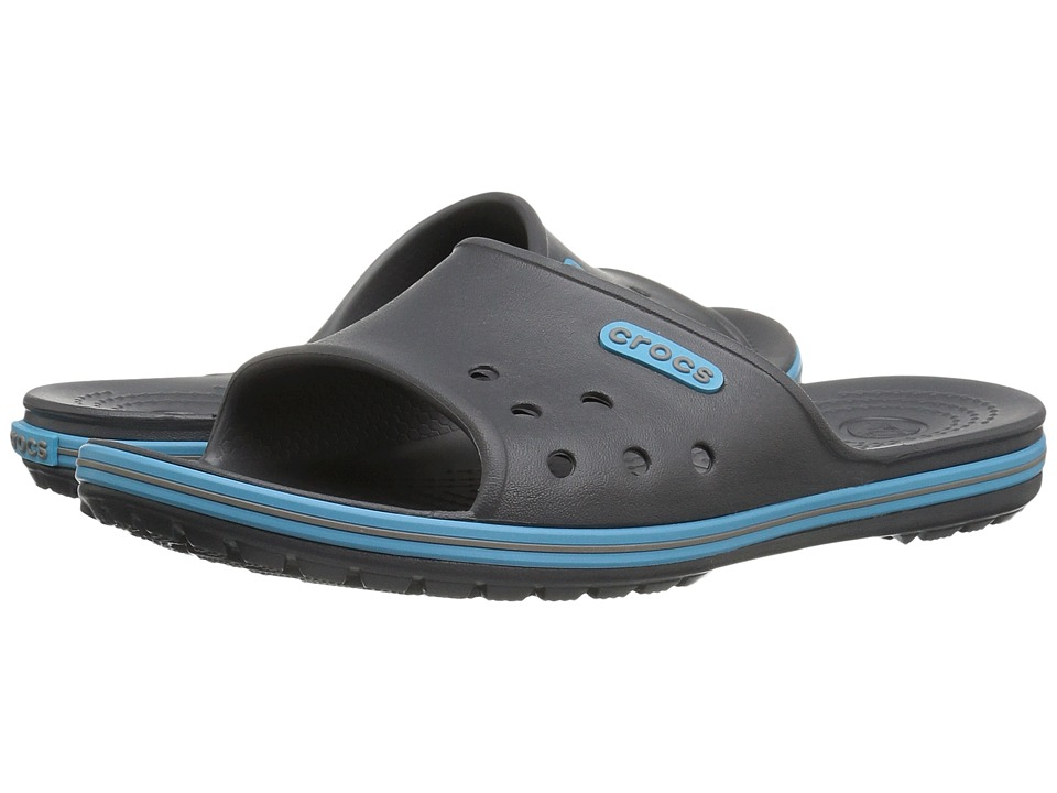 Crocs - Crocband II Slide (Graphite/Electric Blue) Slide Shoes