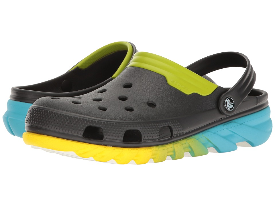 Crocs - Duet Max Ombre Clog (Black/Green) Clog Shoes