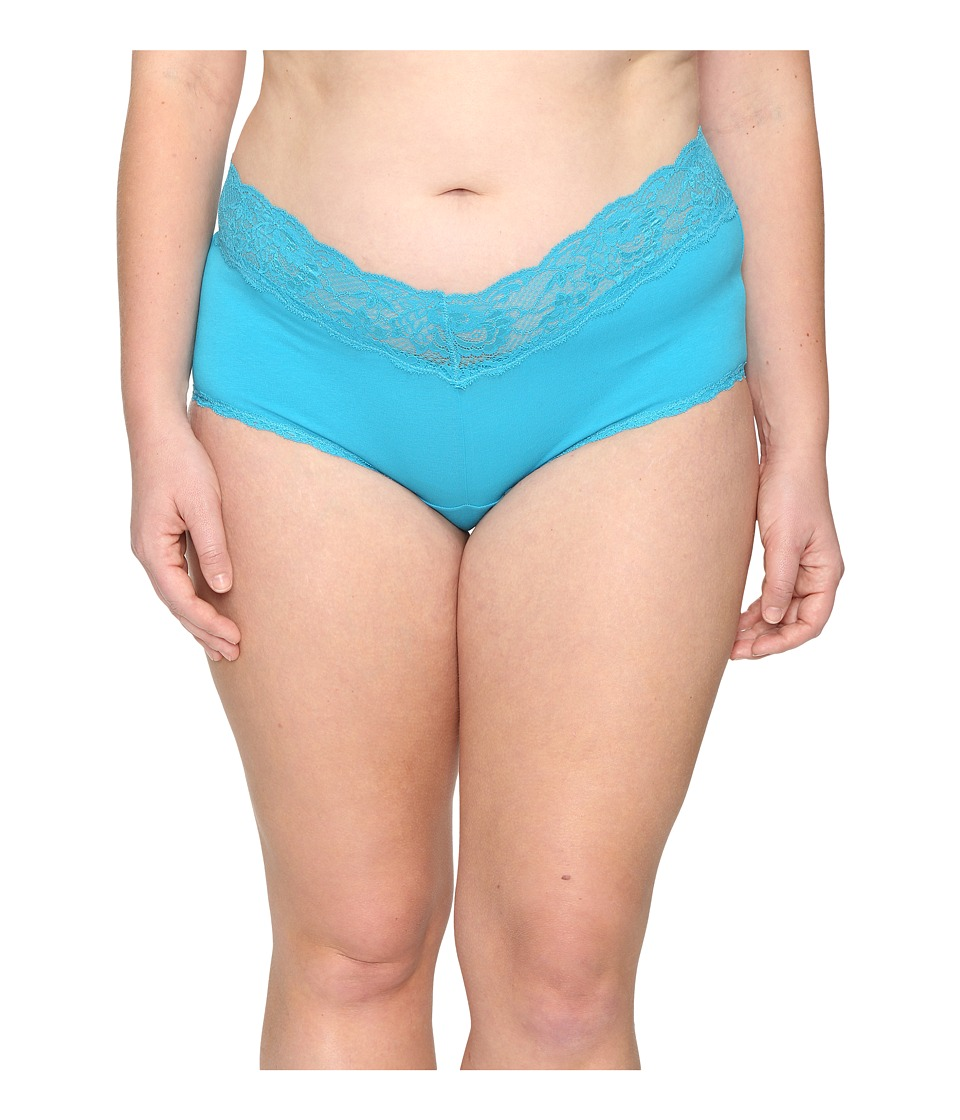 Cosabella - Extended Size Never Say Never Cheekie Hotpant (Picasso Blue) Women's Underwear