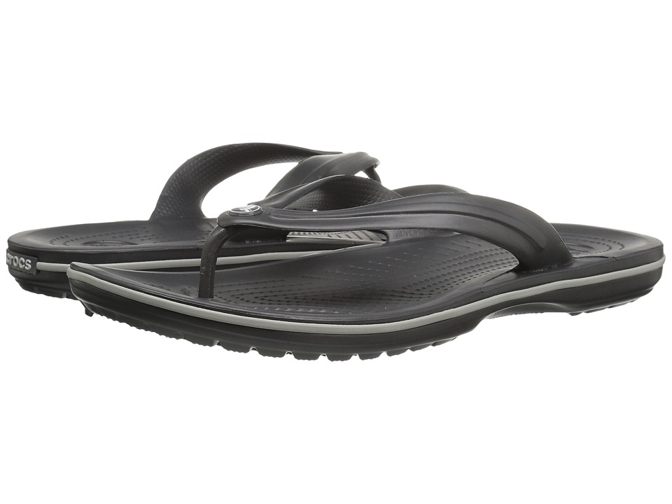 Crocs - Crocband Flip (Graphite/Light Grey) Shoes