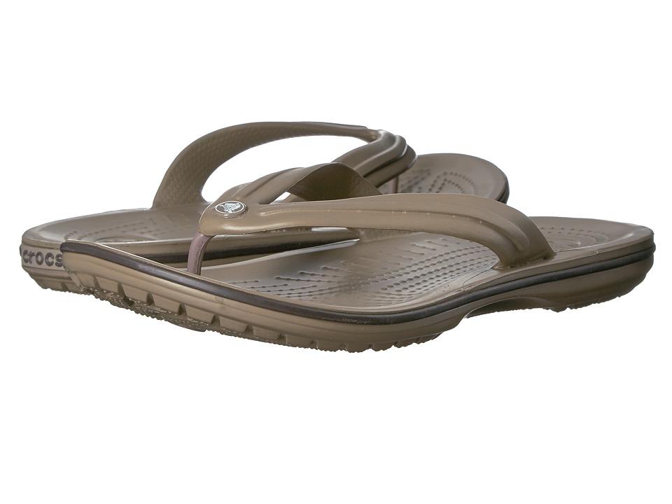 Crocs - Crocband Flip (Khaki/Espresso) Shoes