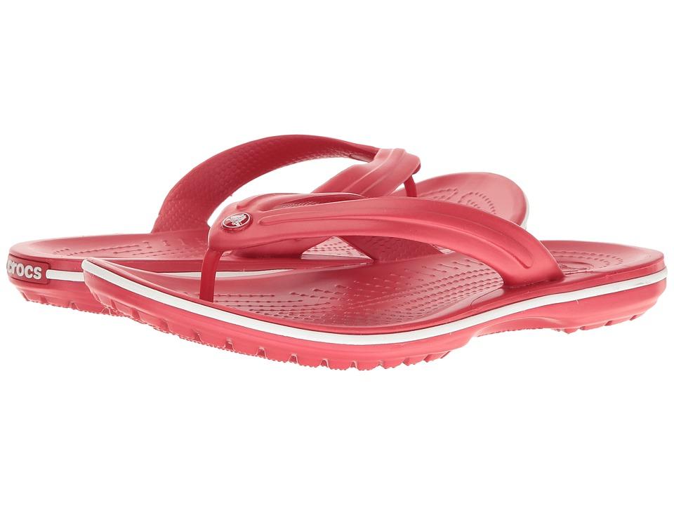 Crocs Crocband Flip (Pepper/White) Shoes