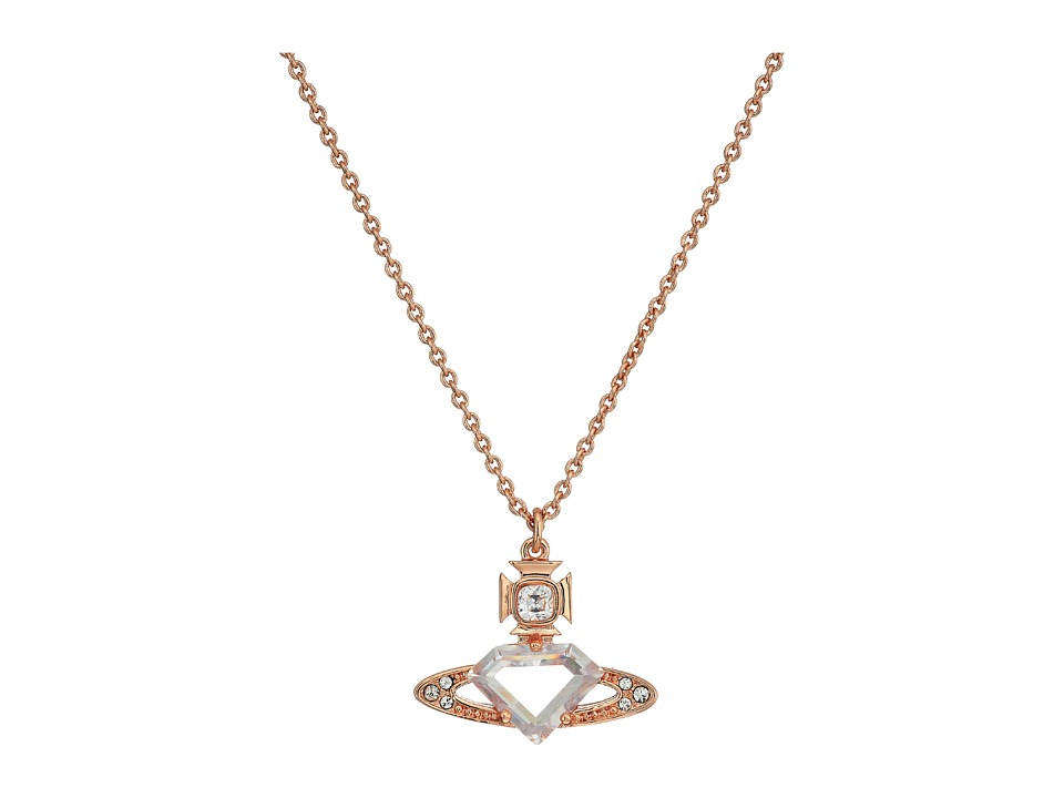 Vivienne Westwood - Sinead Pendant Necklace (White Cubic Zirconia/White Crystal) Necklace