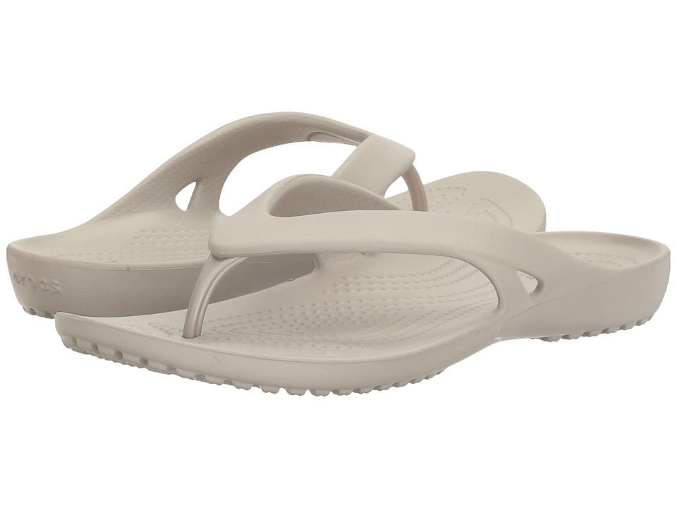 Crocs - Kadee II Flip (Platinum) Women's Sandals