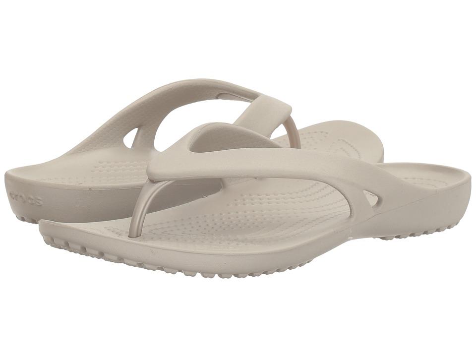 Crocs - Kadee II Flip (Platinum) Women's Sandals