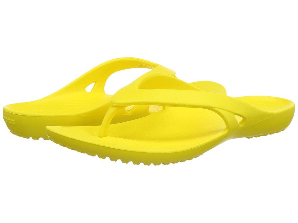 Crocs - Kadee II Flip (Lemon) Women's Sandals