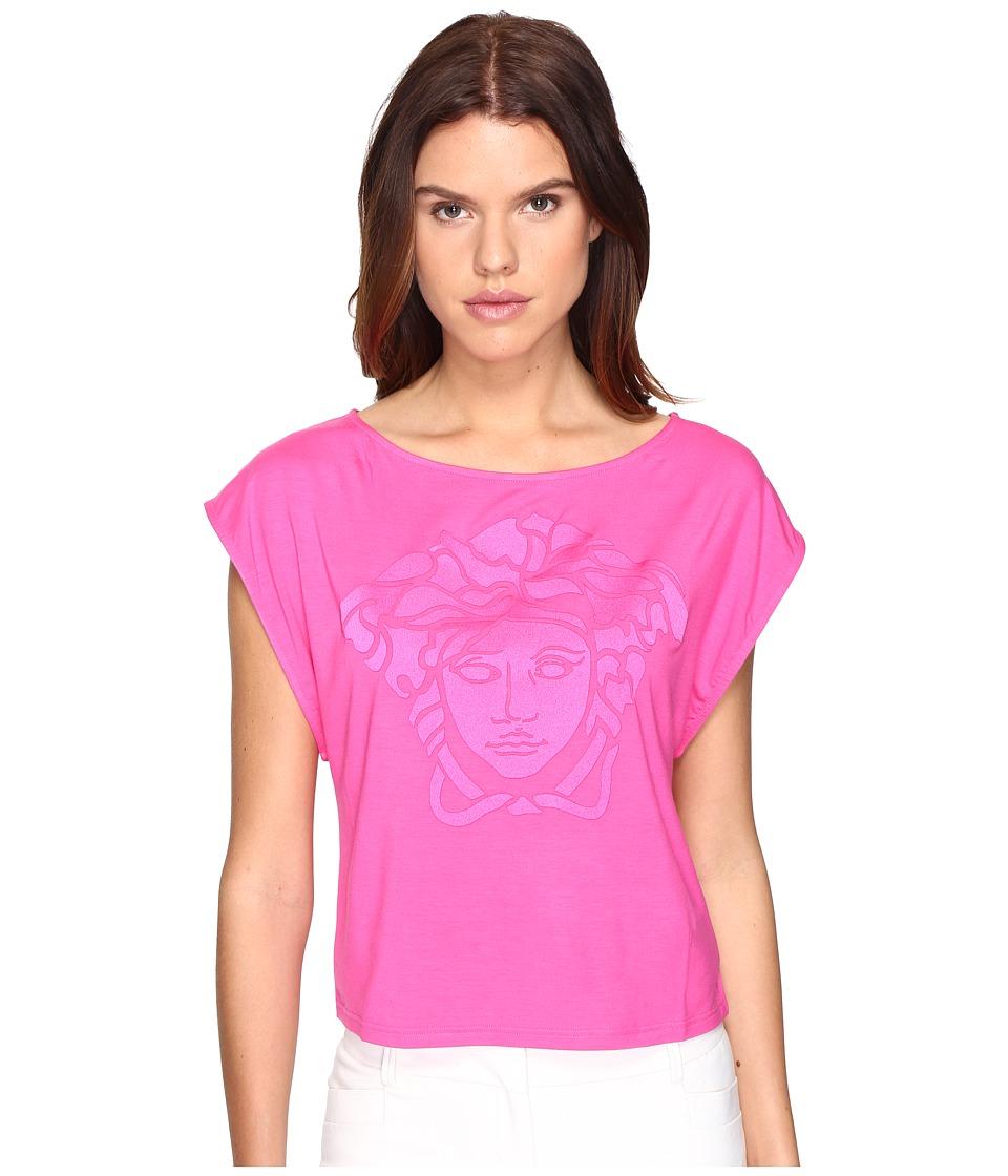 Versace - Oversize Logo T-Shirt (Fuchsia) Women's Swimwear