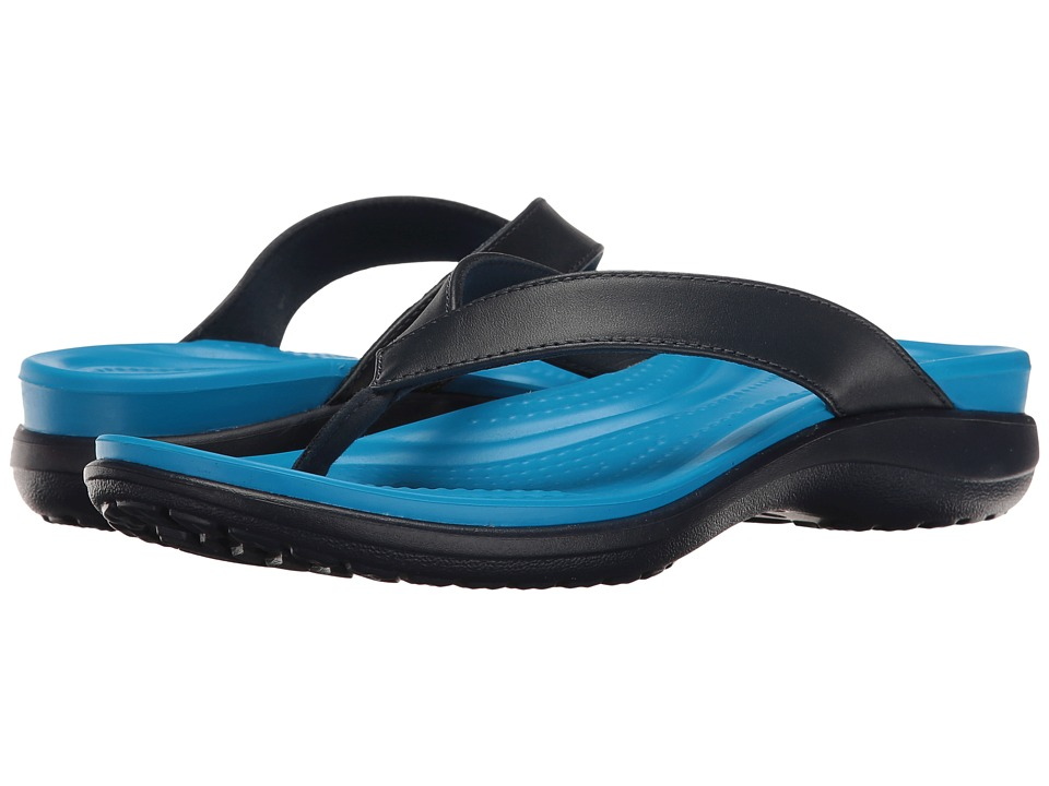 Crocs Capri V Flip (Navy/Ocean) Women